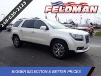 2015 GMC Acadia SLT-1 FWD, Brown Leather, 10 Speakers,