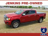 Low Miles! This 2015 GMC Canyon 4WD SLT will sell fast