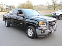 Black 2015 GMC Sierra 1500 SLE RWD 6-Speed Automatic