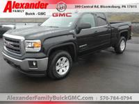 Black 2015 GMC Sierra 1500 SLE 4WD 6-Speed Automatic
