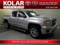 Silver 2015 GMC Sierra 1500 SLT 4WD 6-Speed Automatic