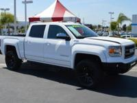 CARFAX One-Owner. Clean CARFAX. White 2015 GMC Sierra