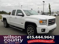 2015 GMC Sierra 1500 SLT V8 Summit White 16/22mpg