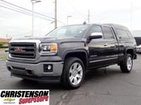 Clean CARFAX. Iridium Metallic 2015 GMC Sierra 1500 SLT