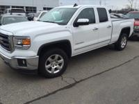 2015 GMC Sierra 1500 SLT in White and GM Certified.