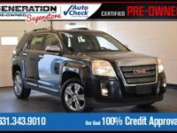 Black 2015 GMC Terrain SLT-2 AWD 6-Speed Automatic 3.6L
