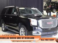 2015 GMC Yukon Denali in Onyx Black, GM Certified, One