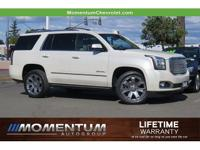 Clean CARFAX. White Diamond Clearcoat Denali 4WD