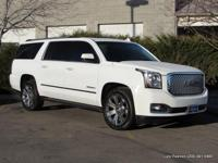 2015 Yukon XL Denali in white with taupe leather