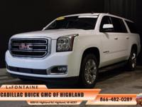 2015 GMC Yukon XL SLE 1500 in White and GM Certified.