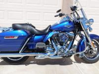 2015 H-D Road King FLHR, 8800 Miles, Blue, Stage 1