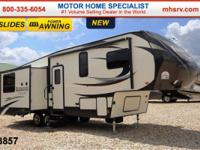 This beautiful fifth wheel also includes the ElkRidge