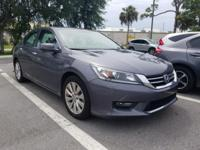 Clean CARFAX. Gray 2015 Honda Accord EX FWD CVT 2.4L I4