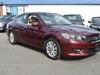 CARFAX One-Owner. Certified. Red 2015 Honda Accord EX