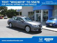 2015 Accord EX-L, Sunroof, Leather, Pushbutton Start,