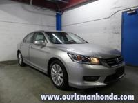 New Price! 2015 Honda Accord EX-L Silver Leather.