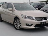 Certified. 2015 Honda Accord EX-L Champagne Frost Pearl