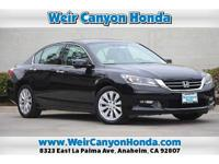 CARFAX One-Owner. Black 2015 Honda Accord EX-L FWD