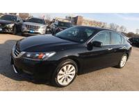 CARFAX One-Owner. 2015 Honda Accord EX-L Crystal Black