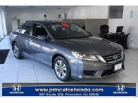 CARFAX One-Owner. Certified. Gray 2015 Honda Accord LX