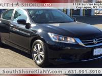 Black 4D Sedan 2015 Honda Accord LX FWD CVT 2.4L I4