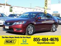 Options:  2015 Honda Accord Sedan Lx|Red/Tan|V4 2.4 L