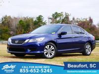 CARFAX One-Owner. Clean CARFAX. Blue 2015 Honda Accord