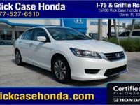 Recent Arrival! Clean CARFAX. White 2015 Honda Accord