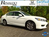2015 Honda Accord LX White Orchid Honda Certified,