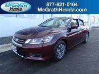 Accord LX and Honda Certified. Come to McGrath Honda!