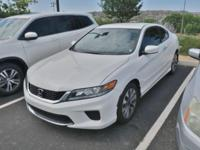 CARFAX One-Owner. 2015 Honda Accord LX-S White Orchid