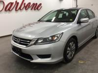 CARFAX One-Owner. Silver 2015 Honda Accord LX FWD CVT