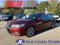 Options:  2015 Honda Accord Sport W/Pedigree|Advertised