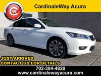 CARFAX One-Owner. Clean CARFAX. White 2015 Honda Accord