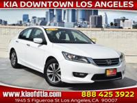 Clean CARFAX. White 2015 Honda Accord Sport 4D Sedan