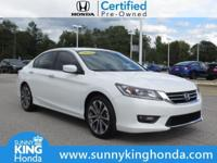 2015 Honda Accord Sport White Orchid Certified. Honda