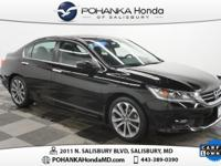 2015 Honda Accord Sport, Black on Black and Honda