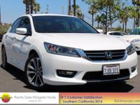 Clean CARFAX. Certified. White Orchid Pearl 2015 Honda