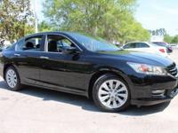 This 2015 Honda Accord Touring in Crystal Black Pearl