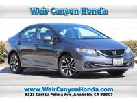 CARFAX One-Owner. Clean CARFAX. Modern Steel 2015 Honda