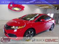 SPORTY GAS SAVER!!!! Rallye Red 2015 Honda Civic EX FWD