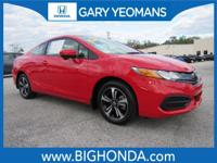 This 2015 Honda Civic Includes. CLEAN CARFAX NO