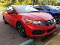 CARFAX One-Owner. Clean CARFAX. Red 2015 Honda Civic EX