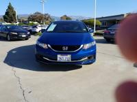 Options:  2015 Honda Civic Seda Ex|Blue|Automatic|1.8L