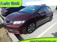 Recent Arrival! Civic EX, 4D Sedan. 2015 Honda Civic EX