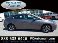 CARFAX One-Owner. Clean CARFAX. Beige 2015 Honda Civic