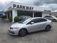 Options:  2015 Honda Civic Ex|Miles: 64244Stock
