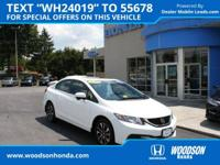 2015 Honda Certified Civic EX. Gas super saver.