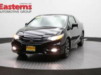 2015 2D Coupe Black 2015 Honda Civic EX-L FWD 1.8L I4