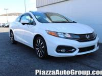 White 2015 Honda Civic EX-L w/Navigation FWD 1.8L I4